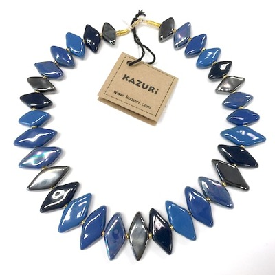 Halsband/Necklace - Domino Mini - Halsband/Necklace Domino Mini - Mid.Blue/SSB/Pewter/Mex.blue