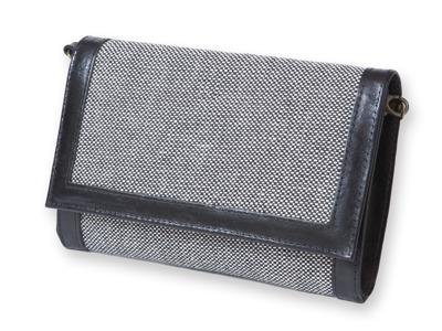 Handväska i hellinne - Kuvertväska - Fjäll 45