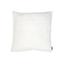 Bädd/Bed: Pläd, Överkast & Kuddvar/Plaid, Bedspread & Cushion case - Kuddvar/Pillow case 47x47 cm: Veckat Benvit/Pleated Offwhite