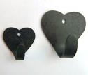 Väggkrokar i järn/Wall Hooks in Iron - 6 cm Hjärtkrok/Heart hook