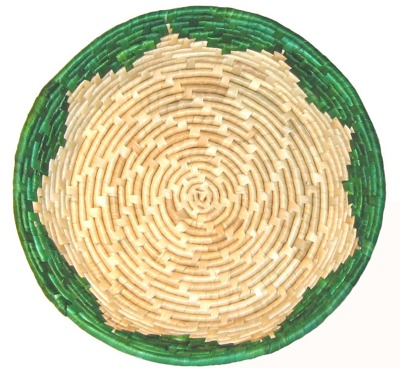 Korghantverk/Basket Crafts - Grytunderlägg/Pot Stand - Grytunderlägg/Pot Stand - Grön/Green