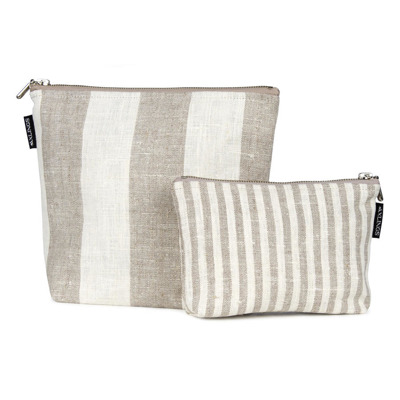 Bad/Bath - Necessär/Toilet bag - Necessär/Toilet bag 26x21 cm: Blockrand/Block Stripe