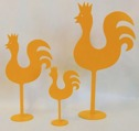 Tupp/Rooster - 34 cm - Gul/Yellow
