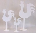 Tupp/Rooster - 46 cm Tupp/Rooster - Vit/WhiteGul/Yellow