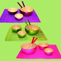 Bambu/Bamboo - Skålar/Bowls - Bambuskålar/Bamboo Bowls Small - Lila/Purple
