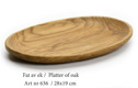 Fat av ek/Platter of oak - Fat av ek/Platter of oak - Oval
