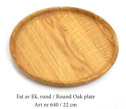 Fat av ek/Platter of oak - Fat av ek/Platter of oak - Rund/Round