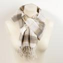 Sjal/Scarf - i ekologisk bomull/in organic cotton - Ekologisk sjal/Eco Scarf: Vitrutig/Checkered White