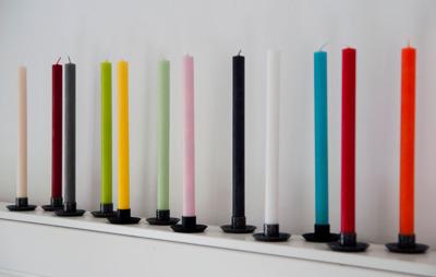 Ljus/Candle - Viktoria - 30 cm Stearinljus/Candles Viktoria - Lindgrön/Lind Green