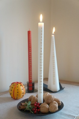 Datumljus/Candle with dates - 35 cm Viktoria Datumljus/Candle with dates