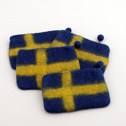 Accessoar/Accessory - Ull/Wool - Myntbörs/Coin Purse - Myntbörs/Coin Purse - Svenska flaggan/the Swedish flag