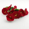Ull/Wool - Girlanger med blommor/Garlands with flowers