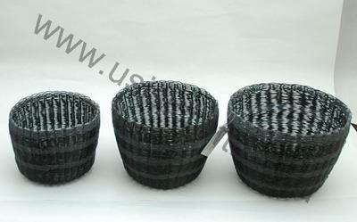 Korgar/Baskets - uSisi Designs - uSisi Basket 8x11 cm: Svart