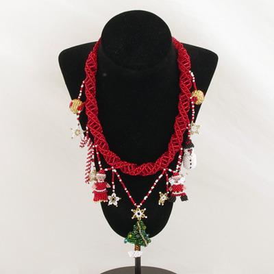 Smycken/Jewelry - Artesanias Juanita: Julhalsband/Christmas Necklace - Julhalsband/Christmas Necklace