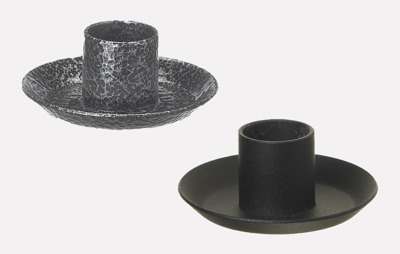 Ljusstakar/Candle Holders - till Victorialjus/for Victoria candles - 6,5 cm Stake/Holder - Svart/Black
