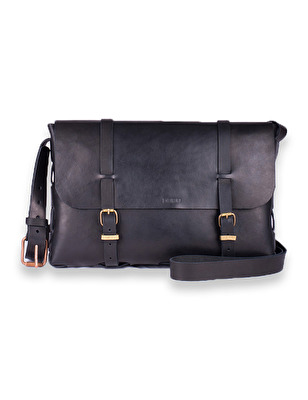 Accessoar/Accessory - Axelremsväska/Shoulder Bag - Messenger - Stor Väska/Big Black Bag Messenger - Svart/Black