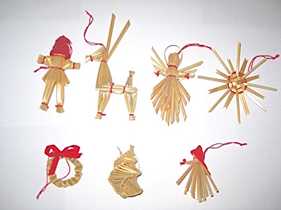 Halmfigurer/Straw Figures - Mini - Halmfigurer/Straw Figures - Julbock/Christmas Goat