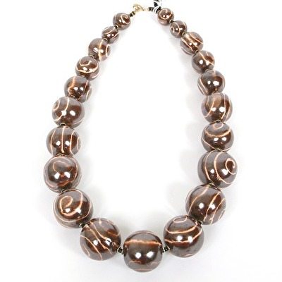 Halsband/Necklace - Tango - Tango - Rust+Satin Cream