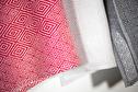 Handduk/Towel - Gåsöga/Goose eye - Gåsöga/Goose eye 35x50 cm - Röd/Red
