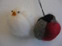 Ull/Wool - Domherre & Kyckling/Bullfinch & Chicken - Domherre/Bullfinch - 10 cm