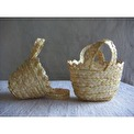 Väska/Bag - Minikorg av halm/Mini-basket of straw