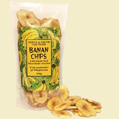 Torkad frukt/Dried fruit - Bananer/Banana Chips - Torkad frukt/Dried fruit - Bananer/Banana Chips