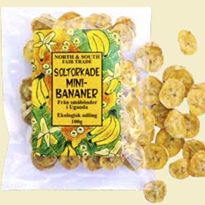 Torkad frukt/Dried fruit - Bananer/Banana Mini - Torkad frukt/Dried fruit - Bananer/Banana Mini