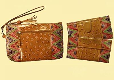 Väska/Bag - India - India Handledsväska/Handbag - Guldbrun/Gold Brown