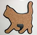 Karottunderlägg/Trivets - Kork/Cork - Katt/Cat Svart/Black