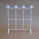 Ljusstake/Candle Holder - Adventsstake Galler/Advent Holder Grid