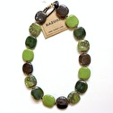 Halsband/Necklace - Pebbles - Halsband/Necklace Pebbles - Clear Green