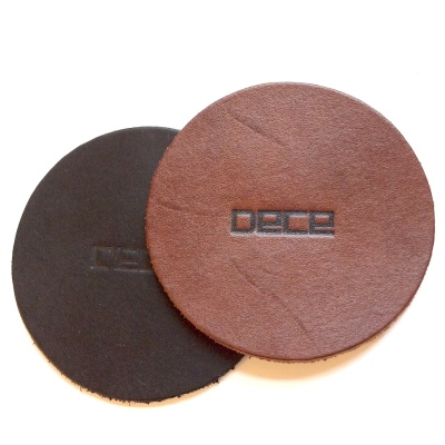 Glasunderlägg i läder/Leather Coaster - Glasunderlägg i läder/Leather Coaster - Brun/Brown