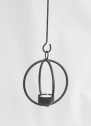 Ljuslykta/Light Lantern - Kula/Bulb - Ø 13 cm Kula/Bulb - Svart/Black