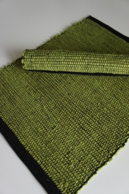 Bordstablett/Place Mat - Handvävd/Handwoven (utgående färger/outgoing colors) - Bordstablett Handvävd/Place Mat Handwoven: Sommargrön-svart/Summer green-black