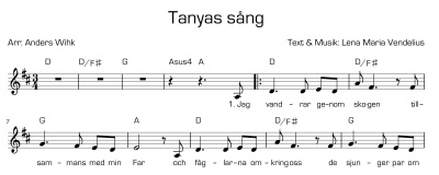 Tanyas sång/Tanya's Song - Tanyas sång - Svensk text/Swedish lyrics