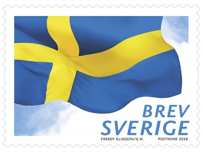 Frimärken/Swedish stamps - Svenska flaggan