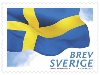 Frimärken/Swedish stamps - Svenska flaggan