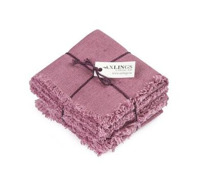 Servett/Nepkin - Rustik/Rustic (utgående färger/outgoing colors) - Rustik 45x45 cm 4-pack: Ljung/Heather