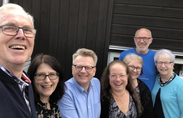 Från vänster: Thomas Ekman, Rut Lindmark, Patrik Vendelius, Lena Maria Vendelius, Inger Ekman, Rolf Johansson och Anna Johansson