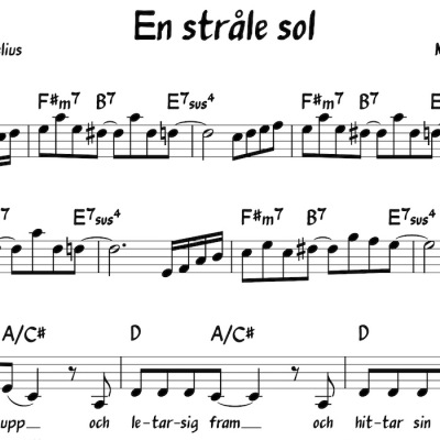 Noter/Sheet Music: En stråle sol - En ståle sol - noter