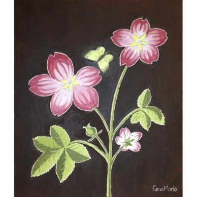 Målning/Painting: Fjärilsblomster/Butterfly Flower - Fjärilsblomster/Butterfly Flower
