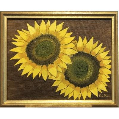 Målning/Painting: Solrosor/Sunflowers - Målning/Painting: Solrosor/Sunflowers