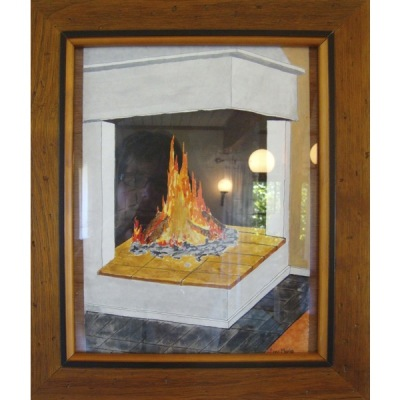 Målning/Painting: Eldstaden/The Fireplace - Målning/Painting: Eldstaden/The Fireplace