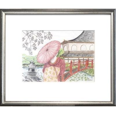 Målning/Painting: Japansk trädgård/Japanese Garden - Målning/Painting: Japansk trädgård/Japanese Garden