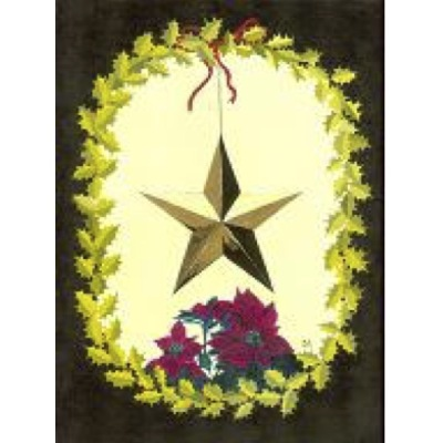 Målning: Julstjärna - Målning: Julstjärna