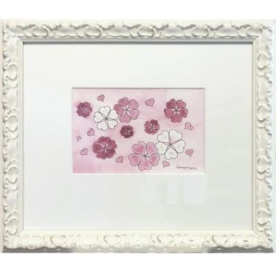 Målning/Painting: Rosa hjärtan/Pink Hearts - Målning/Painting: Rosa hjärtan/Pink Hearts