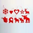 Dekorationer - Julpynt i trä - Ängel - Röd