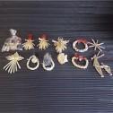 Dekorationer - Julpynt i halm - Halmfigurer - Tomtepar