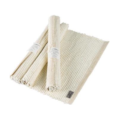Bordstablett - Handvävd - Bordstablett Handvävd - Benvit/Vit varp