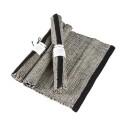 Bordstablett: Handvävd - Tablett Handvävd - Natur/Svart